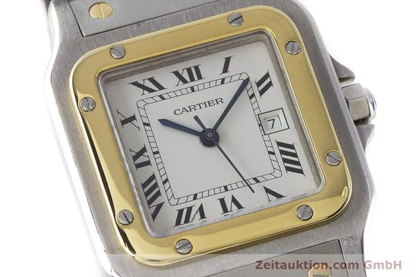 Used luxury watch Cartier Santos steel / gold automatic Kal. 077 ETA 2671  | 160822 02
