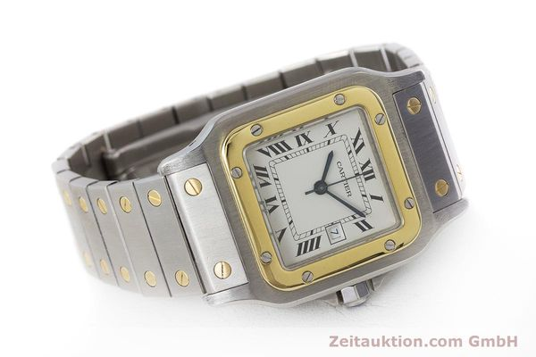 Used luxury watch Cartier Santos steel / gold automatic Kal. 077 ETA 2671  | 160822 03