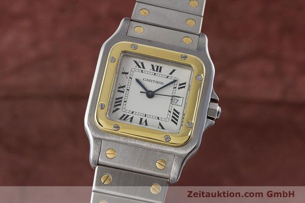 Used luxury watch Cartier Santos steel / gold automatic Kal. 077 ETA 2671  | 160822 04