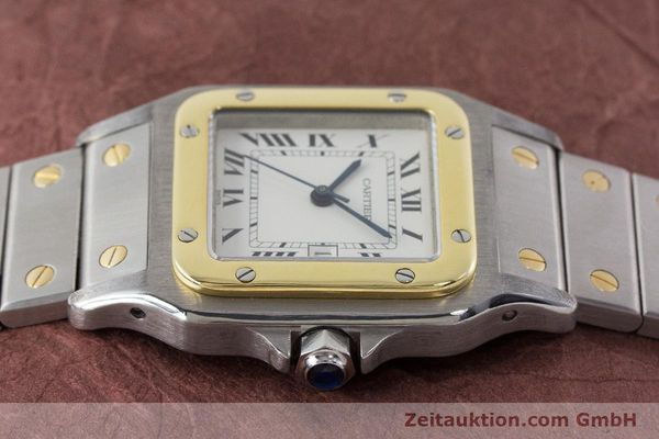 Used luxury watch Cartier Santos steel / gold automatic Kal. 077 ETA 2671  | 160822 05