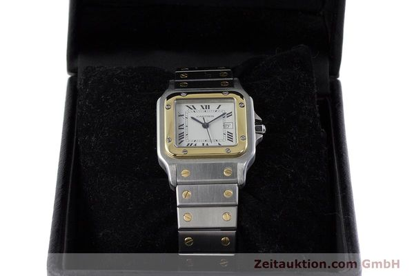 Used luxury watch Cartier Santos steel / gold automatic Kal. 077 ETA 2671  | 160822 07