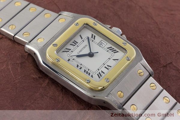 Used luxury watch Cartier Santos steel / gold automatic Kal. 077 ETA 2671  | 160822 12