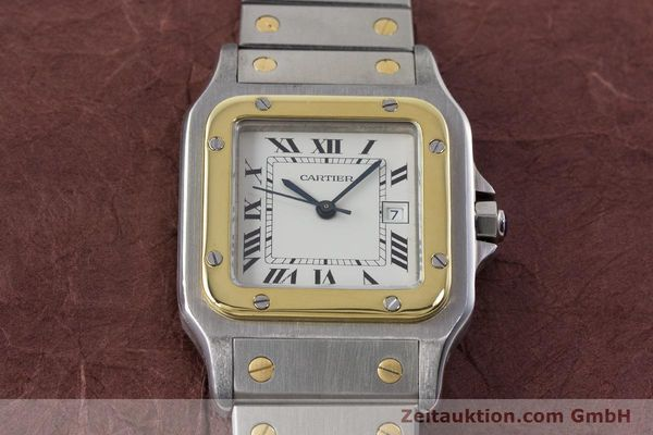 Used luxury watch Cartier Santos steel / gold automatic Kal. 077 ETA 2671  | 160822 13