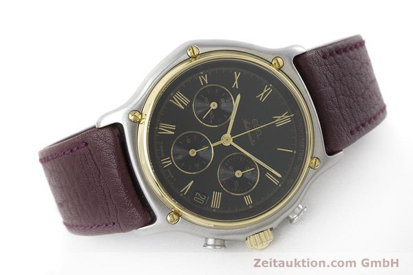 Used luxury watch Ebel 1911 chronograph steel / gold automatic Kal. 134 Ref. 1134901  | 160825 03