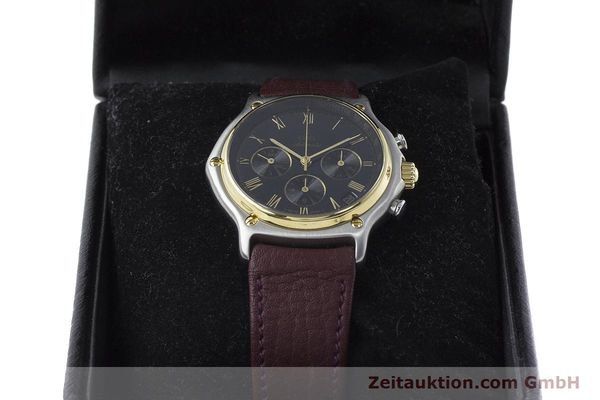 Used luxury watch Ebel 1911 chronograph steel / gold automatic Kal. 134 Ref. 1134901  | 160825 07