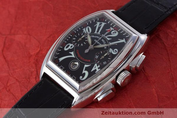 Used luxury watch Franck Muller Conquistador chronograph steel automatic Kal. 1185L02 Ref. 8001CC  | 160826 01