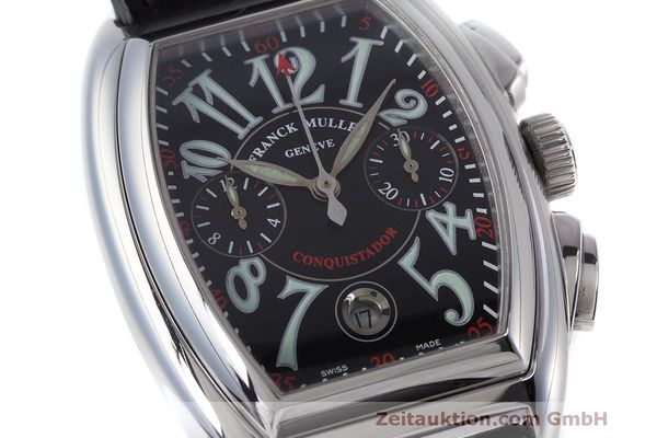 Used luxury watch Franck Muller Conquistador chronograph steel automatic Kal. 1185L02 Ref. 8001CC  | 160826 02