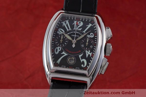 Used luxury watch Franck Muller Conquistador chronograph steel automatic Kal. 1185L02 Ref. 8001CC  | 160826 04