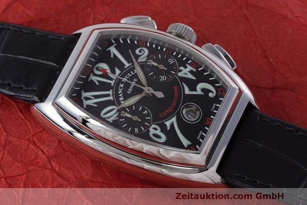 Used luxury watch Franck Muller Conquistador chronograph steel automatic Kal. 1185L02 Ref. 8001CC  | 160826 13
