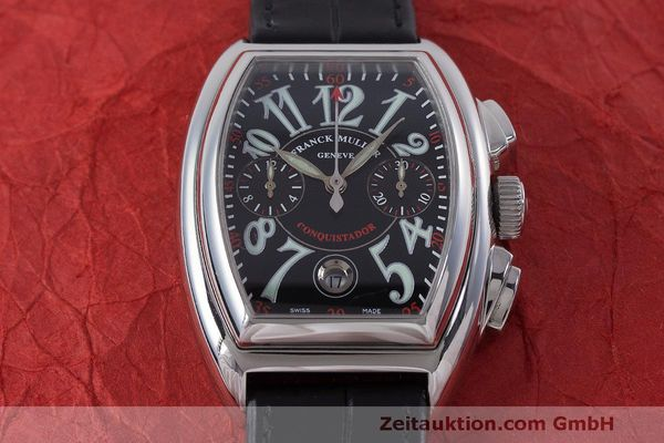 Used luxury watch Franck Muller Conquistador chronograph steel automatic Kal. 1185L02 Ref. 8001CC  | 160826 14