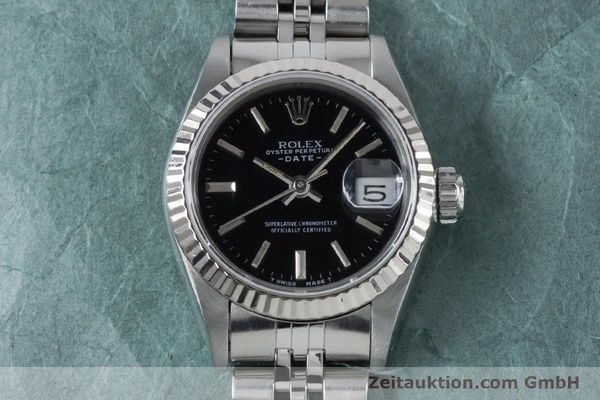 Used luxury watch Rolex Lady Date steel / white gold automatic Kal. 2135 Ref. 69174  | 160841 14