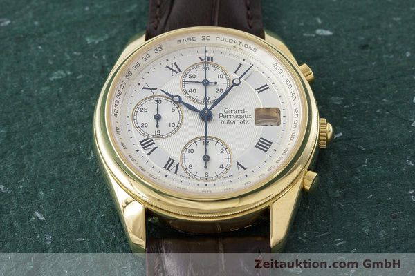 Used luxury watch Girard Perregaux Olimpico chronograph 18 ct gold automatic Kal. 8000-214 Ref. 4900, 4910  | 160844 17