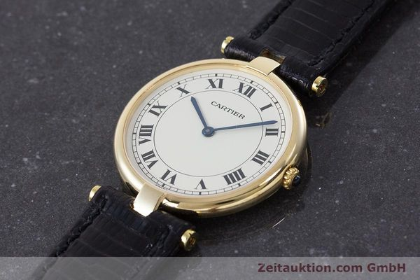 Used luxury watch Cartier * 18 ct gold quartz Kal. 81 Ref. 9996  | 160859 01