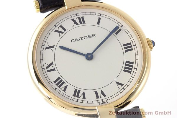 Used luxury watch Cartier * 18 ct gold quartz Kal. 81 Ref. 9996  | 160859 02