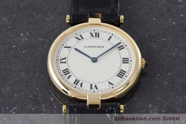 Used luxury watch Cartier * 18 ct gold quartz Kal. 81 Ref. 9996  | 160859 13