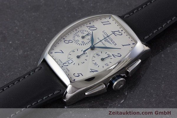 Used luxury watch Longines Evidenza chronograph steel automatic Kal. L650.2 ETA 2894-2 Ref. L2.643.4  | 160866 01