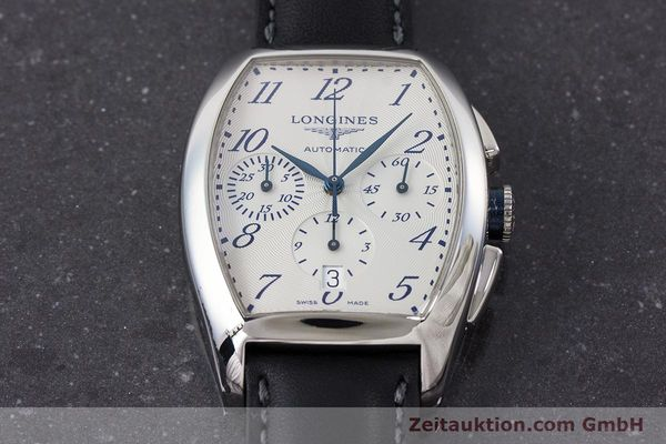 Used luxury watch Longines Evidenza chronograph steel automatic Kal. L650.2 ETA 2894-2 Ref. L2.643.4  | 160866 15