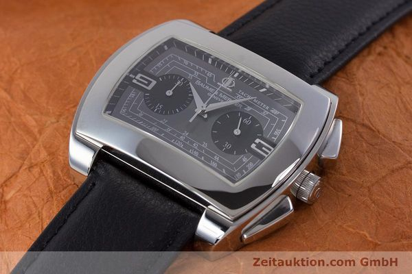 Used luxury watch Baume & Mercier Hampton chronograph steel automatic Kal. BM12 2894 ETA 2894-2 Ref. 65430  | 160867 01