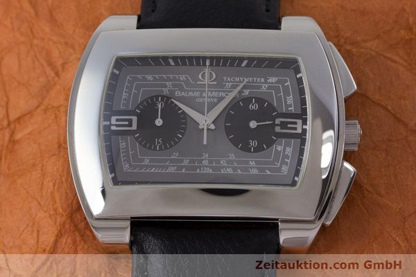 Used luxury watch Baume & Mercier Hampton chronograph steel automatic Kal. BM12 2894 ETA 2894-2 Ref. 65430  | 160867 14