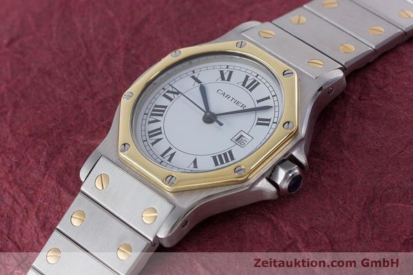 Used luxury watch Cartier Santos steel / gold automatic Kal. ETA 2671  | 160872 01
