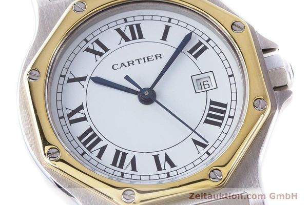 Used luxury watch Cartier Santos steel / gold automatic Kal. ETA 2671  | 160872 02