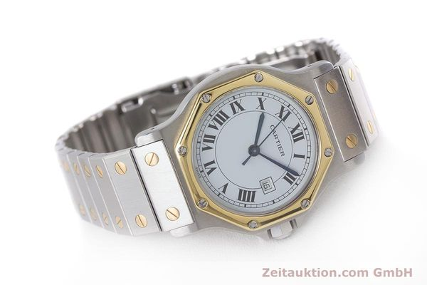 Used luxury watch Cartier Santos steel / gold automatic Kal. ETA 2671  | 160872 03