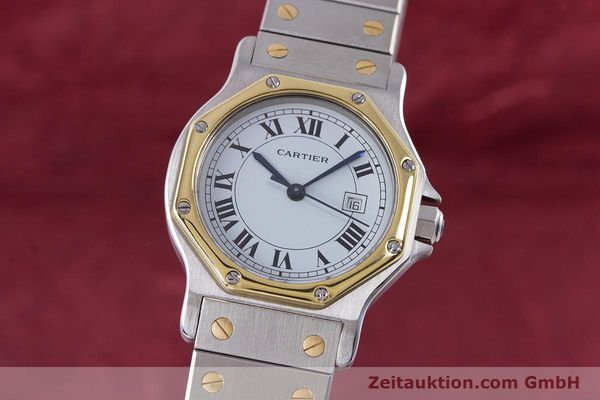 Used luxury watch Cartier Santos steel / gold automatic Kal. ETA 2671  | 160872 04