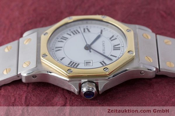 Used luxury watch Cartier Santos steel / gold automatic Kal. ETA 2671  | 160872 05