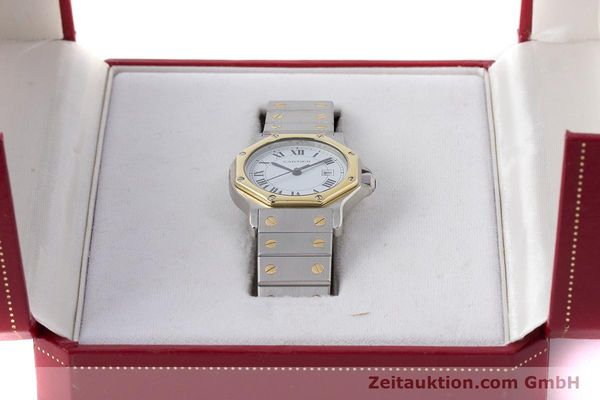 Used luxury watch Cartier Santos steel / gold automatic Kal. ETA 2671  | 160872 07