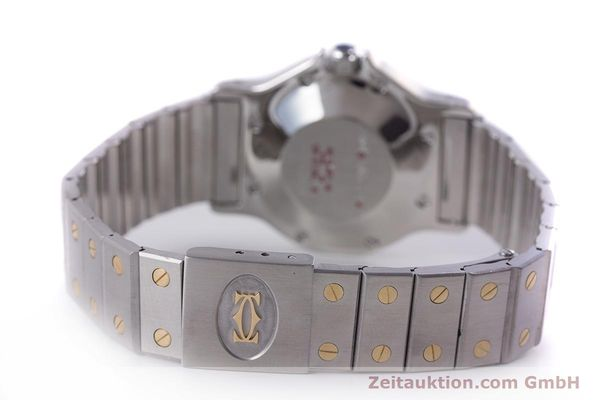 Used luxury watch Cartier Santos steel / gold automatic Kal. ETA 2671  | 160872 11