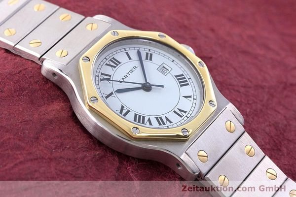 Used luxury watch Cartier Santos steel / gold automatic Kal. ETA 2671  | 160872 14