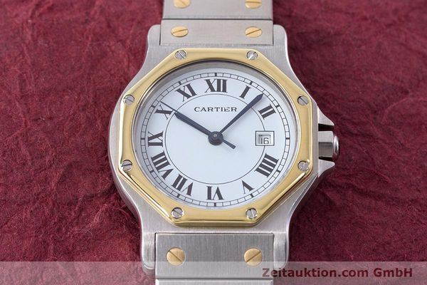 Used luxury watch Cartier Santos steel / gold automatic Kal. ETA 2671  | 160872 15