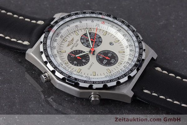 Used luxury watch Breitling Jupiterpilot chronograph steel quartz Ref. A59027  | 160874 15