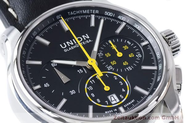 Used luxury watch Union Glashütte Belisar chronograph steel automatic Kal. U7753 ETA 7753 Ref. D002.427A  | 160882 02