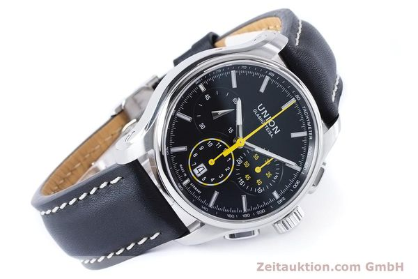 Used luxury watch Union Glashütte Belisar chronograph steel automatic Kal. U7753 ETA 7753 Ref. D002.427A  | 160882 03