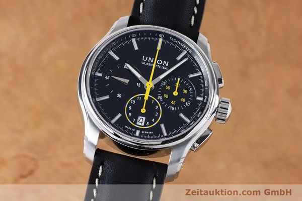 Used luxury watch Union Glashütte Belisar chronograph steel automatic Kal. U7753 ETA 7753 Ref. D002.427A  | 160882 04