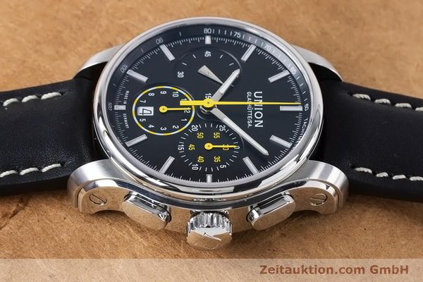 Used luxury watch Union Glashütte Belisar chronograph steel automatic Kal. U7753 ETA 7753 Ref. D002.427A  | 160882 05