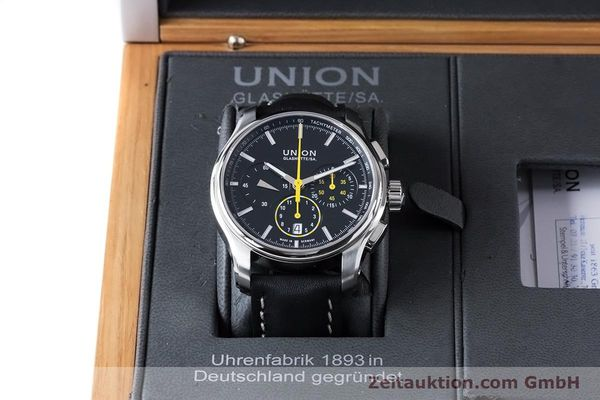 Used luxury watch Union Glashütte Belisar chronograph steel automatic Kal. U7753 ETA 7753 Ref. D002.427A  | 160882 07