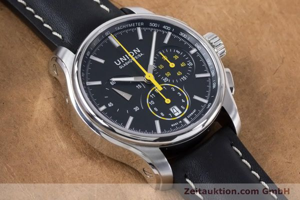Used luxury watch Union Glashütte Belisar chronograph steel automatic Kal. U7753 ETA 7753 Ref. D002.427A  | 160882 14