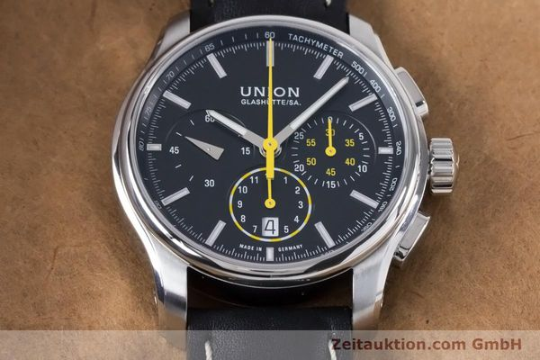 Used luxury watch Union Glashütte Belisar chronograph steel automatic Kal. U7753 ETA 7753 Ref. D002.427A  | 160882 15