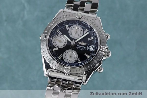 Used luxury watch Breitling Chronomat chronograph steel automatic Kal. B13 ETA 7750 Ref. A13352  | 160891 04