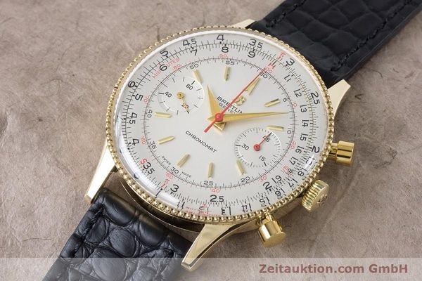 Used luxury watch Breitling Chronomat chronograph 18 ct gold manual winding Kal. Venus 175 Ref. 808 VINTAGE  | 160895 01