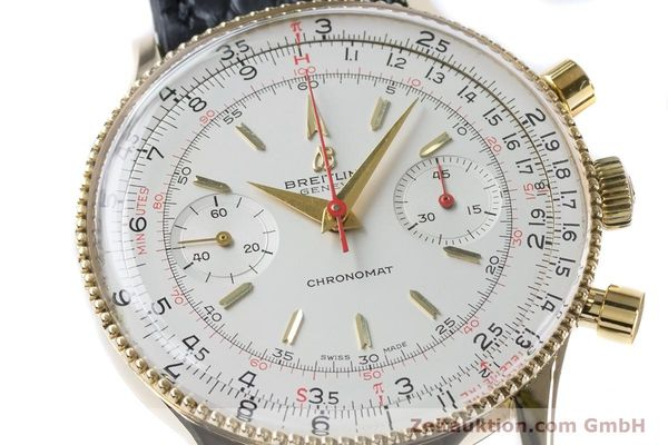 Used luxury watch Breitling Chronomat chronograph 18 ct gold manual winding Kal. Venus 175 Ref. 808 VINTAGE  | 160895 02