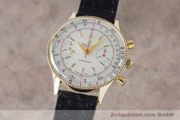 Used luxury watch Breitling Chronomat chronograph 18 ct gold manual winding Kal. Venus 175 Ref. 808 VINTAGE  | 160895 04