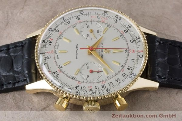 Used luxury watch Breitling Chronomat chronograph 18 ct gold manual winding Kal. Venus 175 Ref. 808 VINTAGE  | 160895 05