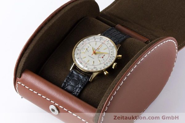 Used luxury watch Breitling Chronomat chronograph 18 ct gold manual winding Kal. Venus 175 Ref. 808 VINTAGE  | 160895 07