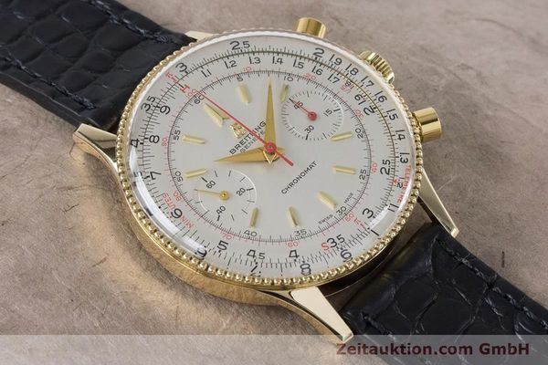 Used luxury watch Breitling Chronomat chronograph 18 ct gold manual winding Kal. Venus 175 Ref. 808 VINTAGE  | 160895 12