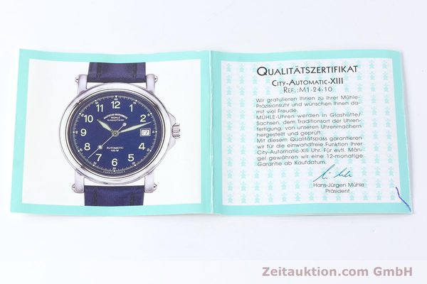 Used luxury watch Mühle City-Automatic-XIII steel automatic Kal. ETA 2824-2 Ref. M1-24-00  | 160901 12