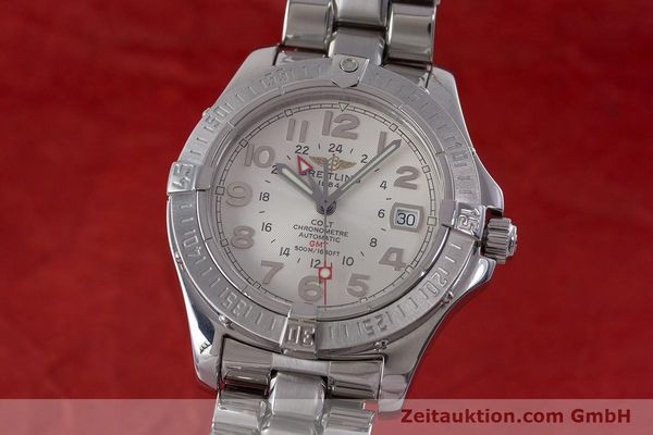 Used luxury watch Breitling Colt steel automatic Kal. B32 ETA 2893-2 Ref. A32350  | 160907 04