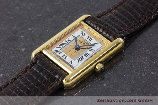 Used luxury watch Cartier Tank silver-gilt quartz Kal. 66  | 160909 01